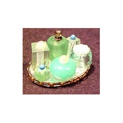 SMALL PERFUME TRAY-GREEN