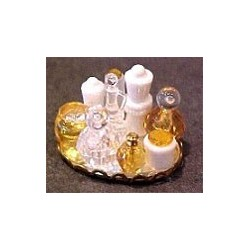 SMALL PERFUME TRAY - YELLOW