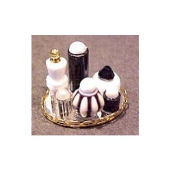 SMALL PERFUME TRAY - BLACK/WHITE
