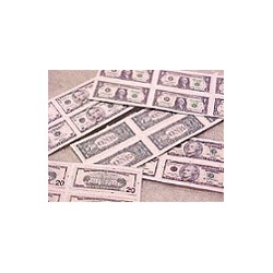 SHEETS OF MONEY - 1'S TO 20'S - DOUBLE SIDED