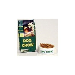 DOG CHOW BAG (SMALL) W/BOWL OF FOOD