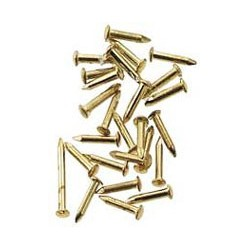 SOLID BRASS POINTED NAILS 100PC