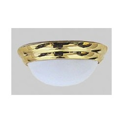 Frosted Oval Ceiling Lamp