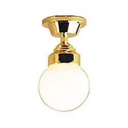 White Globe Ceiling Lamp