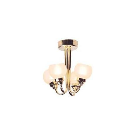 4-ARM FROSTED GLOBE CHANDELIER