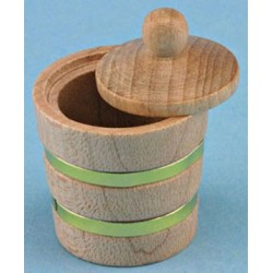 WOODEN BUCKET W/LID