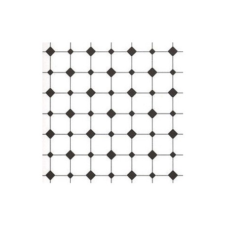 FLOOR PAPER: DIAMOND TILES,BLACK& WHITE