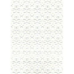 6 pack 1/2 Scale Embossed Dado, White