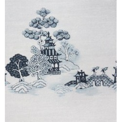 3 pack Wallpaper: China Grove Mural Blue