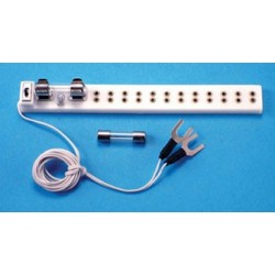 PETITE: 12-OUTLET POWER STRIP,FUSE+SWTCH