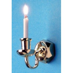 SINGLE WALL SCONCE W/BI-PIN BULB 12 V.