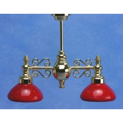 Billiard Chandelier W/Red Shad