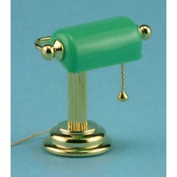 READING LAMP W/GREEN SHADE