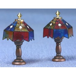 ASSTD TIFFANY TBL LAMPS, 2/PK