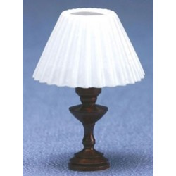 Table Lamp- White Pleated Shad