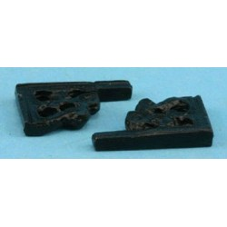BRACKETS SMALL 2 PCS BLACK