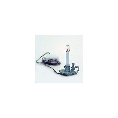 ELECTRIC CANDLESTICK-PEWTER