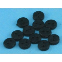 BUTTONS 4MM BLACK 12PCS