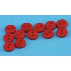 BUTTONS 4MM RED 12PCS