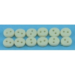 BUTTONS 4MM CREAM 12PCS