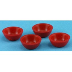 "1/2"" Scale Bowls 4 PC. Assorted Colors"