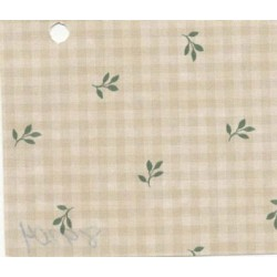 3 pack Prepasted Wallpaper: Beige Check/green Leaves