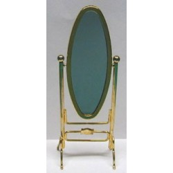 BRASS CHEVAL MIRROR
