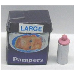 PAMPERS W/BABY BOTTLE - OPENS