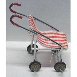 STROLLER - RED/WHITE STRIPED