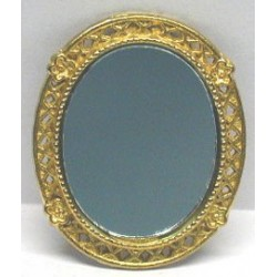 OVAL VICTORIAN GOLD MIRROR