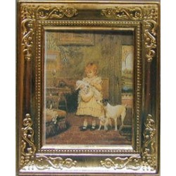GIRL/DOGS METAL FRAME 2 X 2 3/4