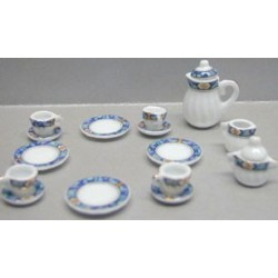 17 PC DINNER SET-BLUE BORDER