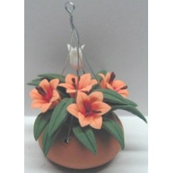 HANGING CLAY POT LILIES 2 3/8