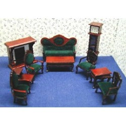 MH-10 PC LIVING ROOM-GREEN FABRIC