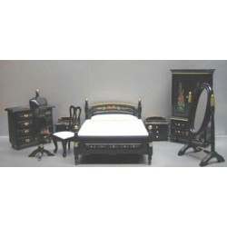 8 PC BLACK BEDROOM SET
