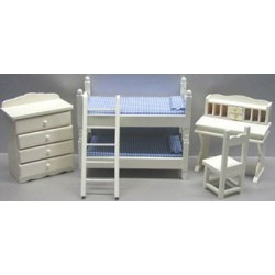 5 PC BUNK BED SET W/DESK