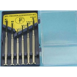 JEWELERS SCREWDRIVER SET, 6 PC., CARDED