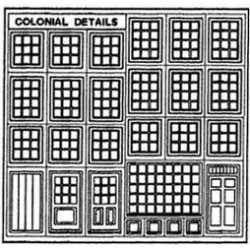 COLONIAL WINDOWS & DOORS 1/2IN SCALE
