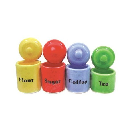 4 PC CANNISTER SET ASSORTED COLOR
