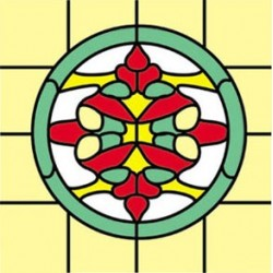 Sim. Stained Glass Fits Cla75052/Hw5052