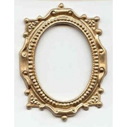 GOLD OVAL VICTORIAN FRAME