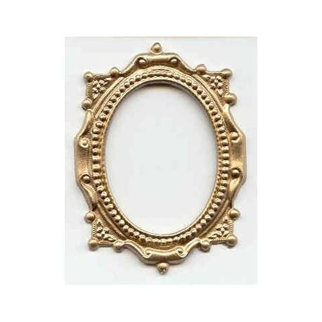 Gold Oval Victorian Frame | Dollhouse Pictures & Frames | Superior ...