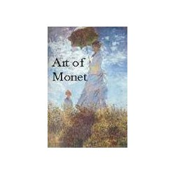 MONET BOOK WITH COLOR PAGES