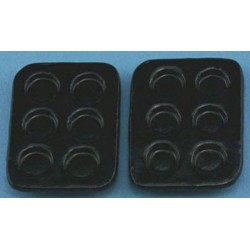 MUFFIN PANS, BLACK 2PC