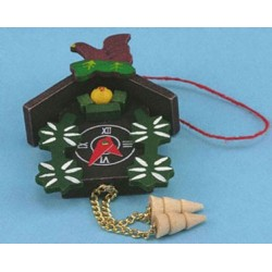 PAINTED CUCKOO CLOCK, 4-1/2H