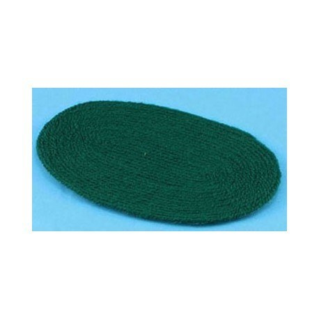 HUNTER GREEN RUG, LARGE