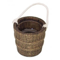 WOODEN BUCKET W/WATER