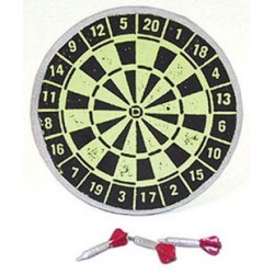 DARTBOARD W/3 RED DARTS