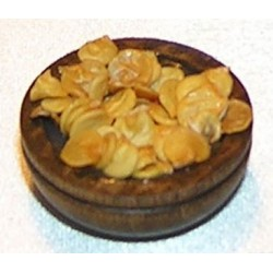 WOODEN BOWL W/CHIPS