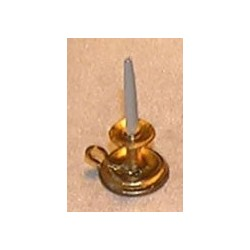 CANDLE, CHAMBER, FLUTED, BRASS COLOR